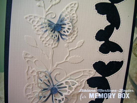 Butterflies in blue detail 2