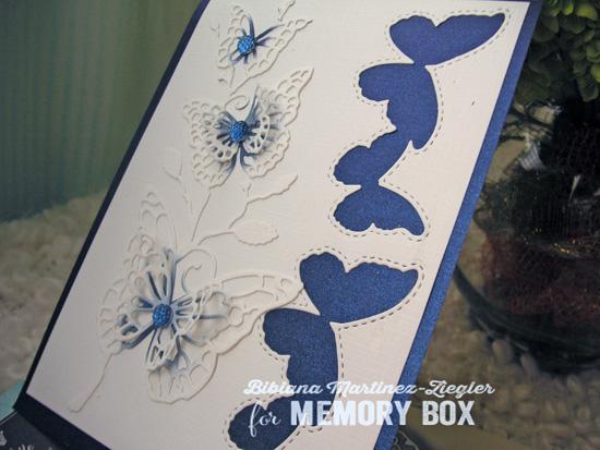 Butterflies in blue detail