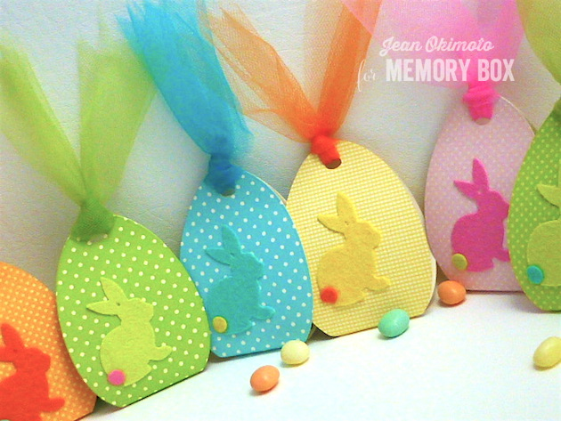 MemoryBoxSketchBunnyBackground-MemoryBoxHalfADozenEggs-MemoryBoxSignaturePatterns-JeanOkimoto-Felt-Easter-PartyFavors
