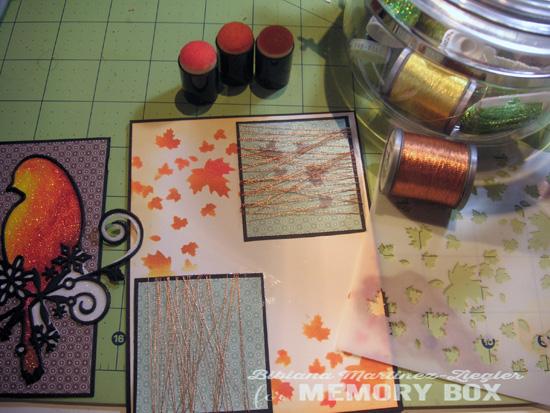 Fall bird glitter step 4