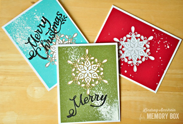 I Am Bringing You Not One But Three Holiday Card Ideas Using A Simple Snowflake And Sentiment Die When It Comes To Mass Producing Your Cards