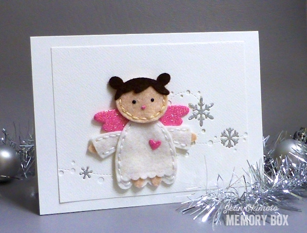 MemoryBoxPlushAngle-MemoryBoxSnowdriftBreeze-MemoryBoxStitchedRectangleTrimmings-JeanOkimoto-FeltCards-FeltChristmasCards