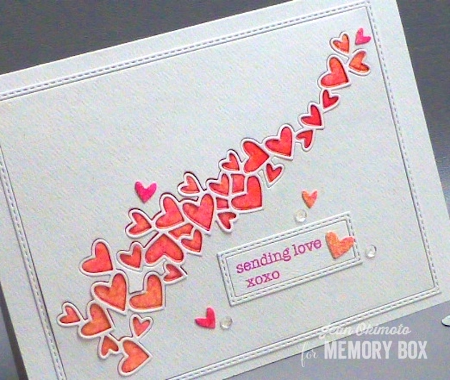 MemoryBoxHeartWave-MemoryBoxSoManyThingsToLove-MemoryBoxStitchedRectangleTrimmings-PeerlessWatercolors-WatercoloredValentines-WatercoloredHearts