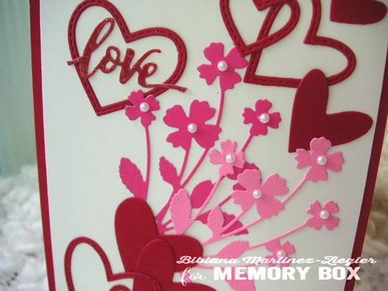 Val pink bouquet detail