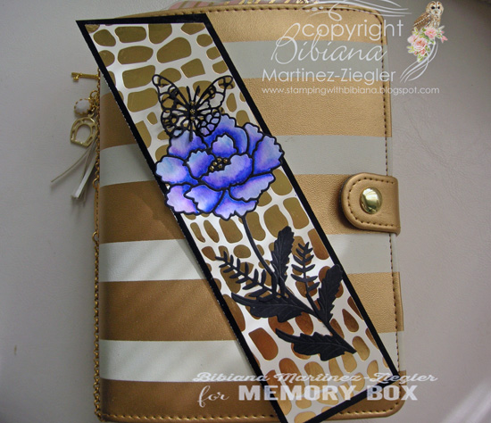 Bookmark flower planner cover