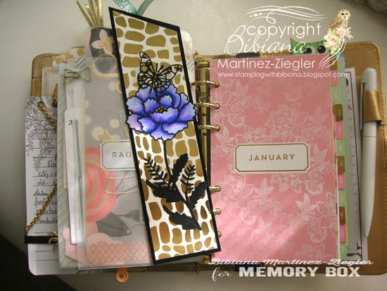 Bookmark flower planner