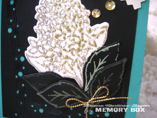 Hydrangea black detail