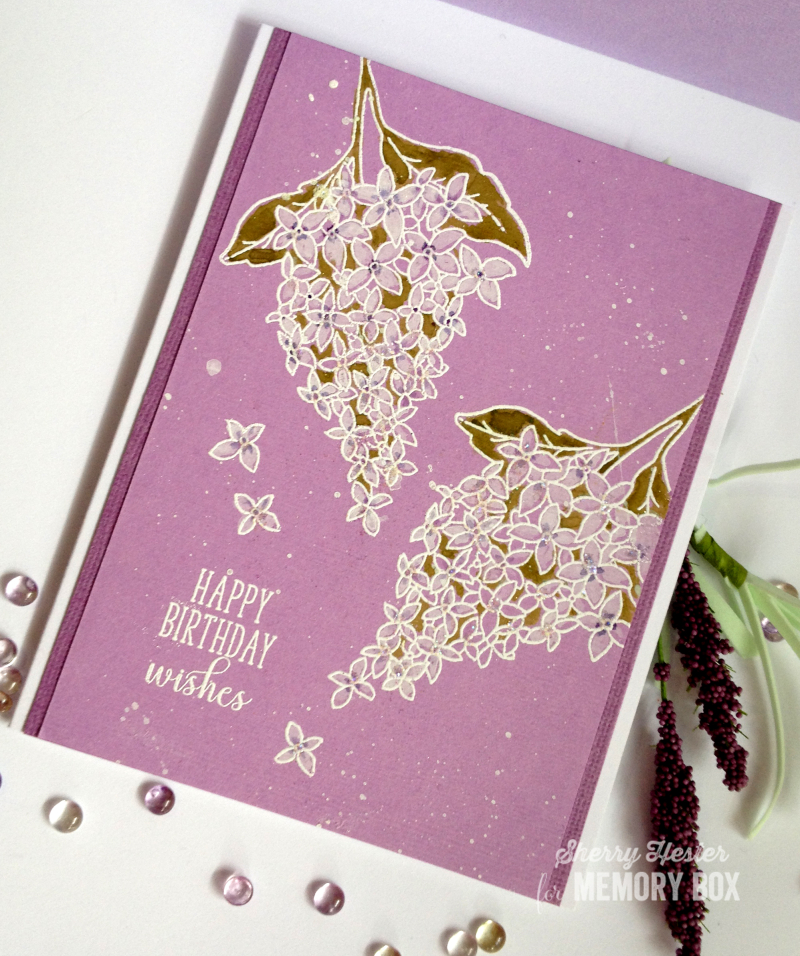 Happy Birthday Wishes with Spring Lilacs - 1
