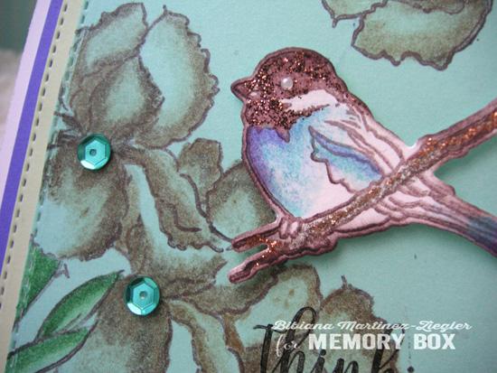 Bird flowers sepis detail