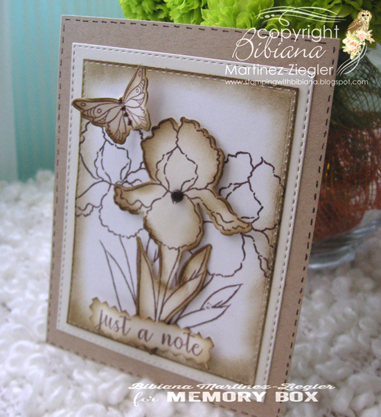Snetimental Iris clear stamp set
