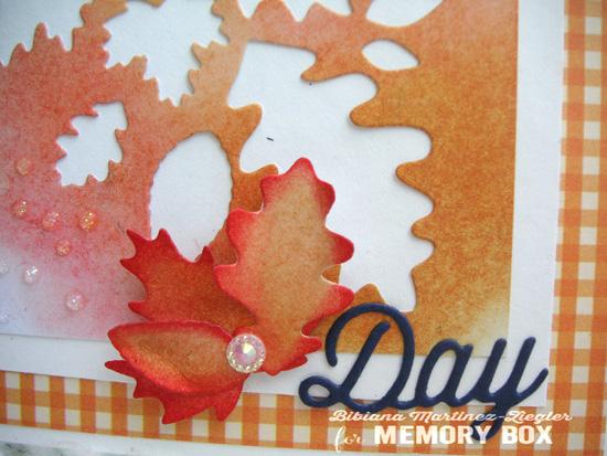 Fall leaves collage orange detail