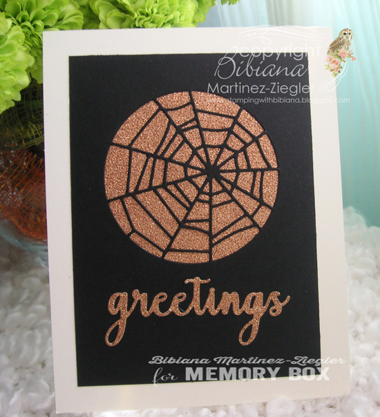 Halloween copper web front