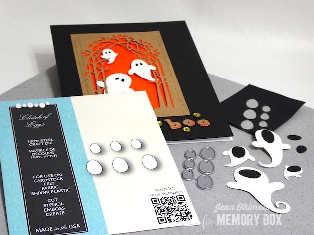 MemoryBoxSwirlingGhosts-MemoryBoxPlayfulBoo-MemoryBoxGroveCollage-MemoryBoxWrappedStitchRectangles-MemoryBoxRectangleBasics-MemroyBoxClutchOfEggs-JeanOkimoto-MemoryBoxHalloweenCards-DiecutHalloweenCards-TechniquesJeanOkimoto