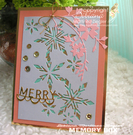 Xmas peach snowflakes side 2