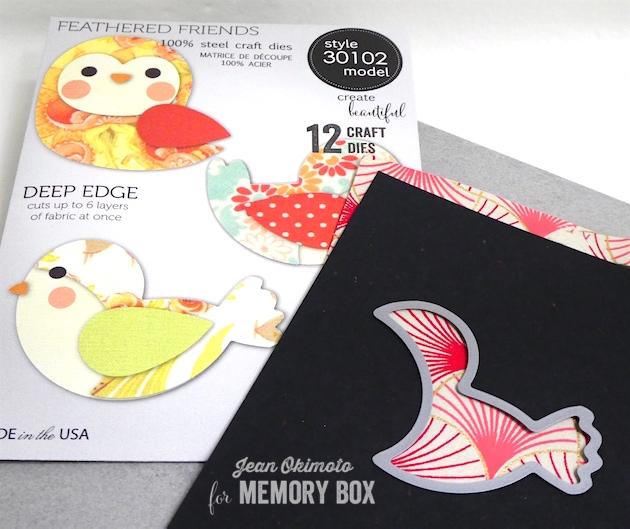MemoryBoxFeatheredFriends-JeanOkimoto-MemoryBoxDeepEdgeDies-ShizenDesign