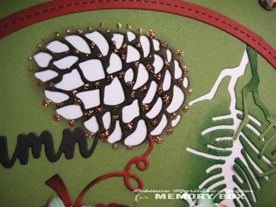 Fall pinecone detail