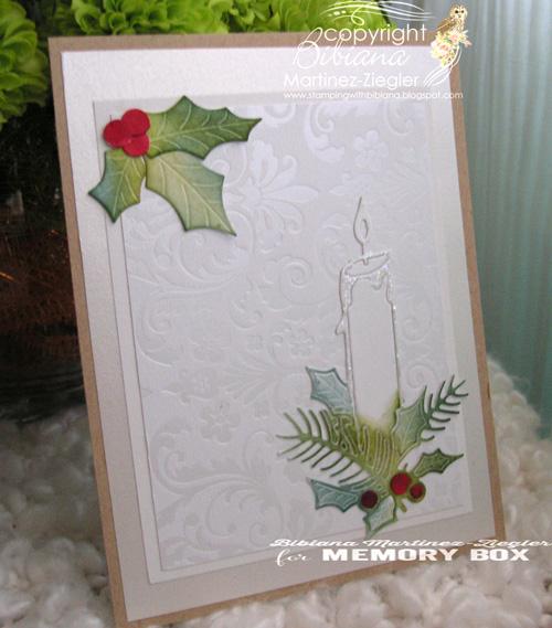Xmas white candle side