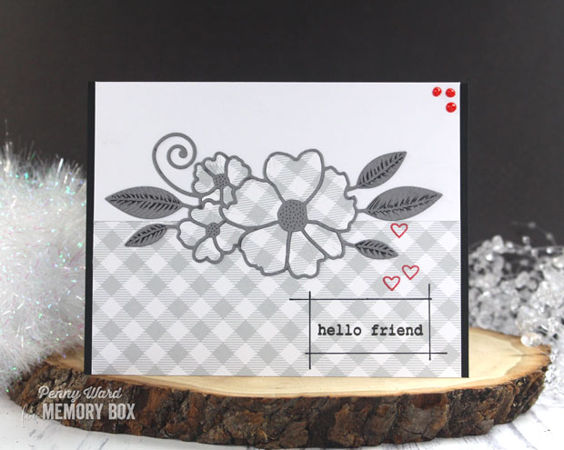 Wirework Hearts clear stamp set