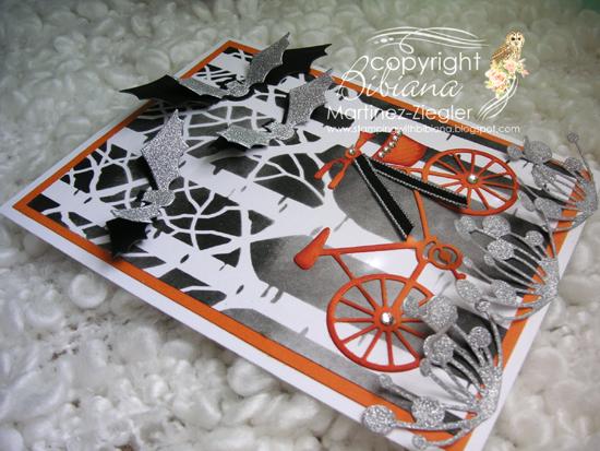 Halloween bicycle flat