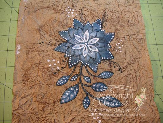Amate flower step 9a