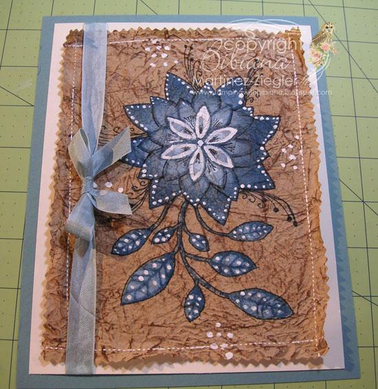 Amate flower step 10
