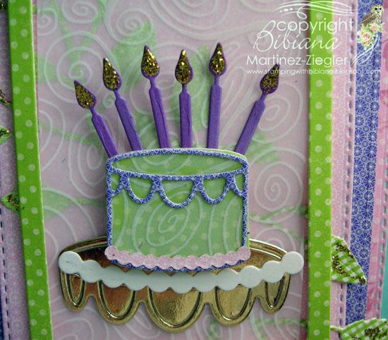 Bday cake detail