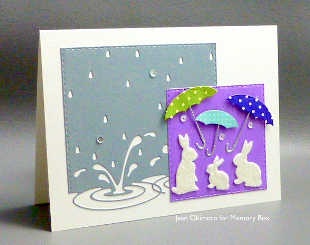 MemoryBoxSplashingPuddles-MemoryBoxSpringtimeBunnies-OpenStudioStitchedSquareLayers-OpenStudioComeRainOrShine-JeanOkimoto