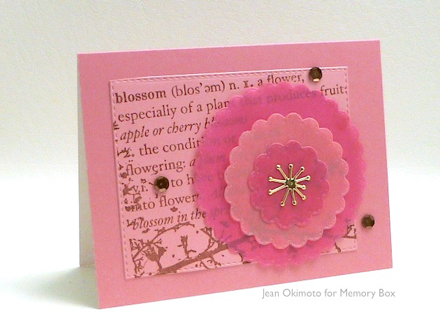 MemoryBox-OpenStudioBlossomBranch-OpenStudioStitchedScallpedCircles-MemoryBoxCherryBlossom-JeanOkimoto-ImagineCrafts-VersaFine