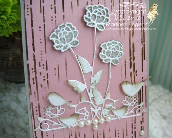 Pink roses detail