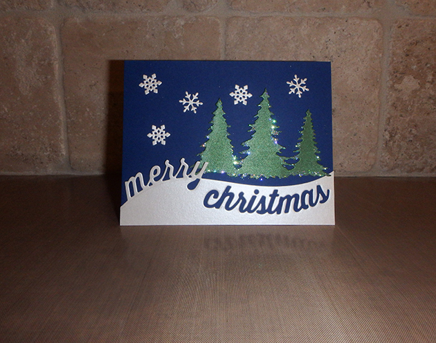 Stitched Let It Snow Circle Frame