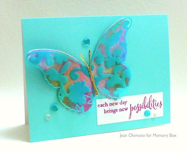MemoryBoxLydiaButterfly-MemoryBoxSonoraButterfly-MemoryBoxDarlaButterfly-MemoryBoxNewPossibilities-JeanOkimoto-PeerlessWatercolors-ImagineCrafts-MementoLuxe-ImpressCardsAndCrafts