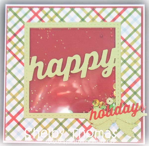 Stitched Happy Holiday Square Frame