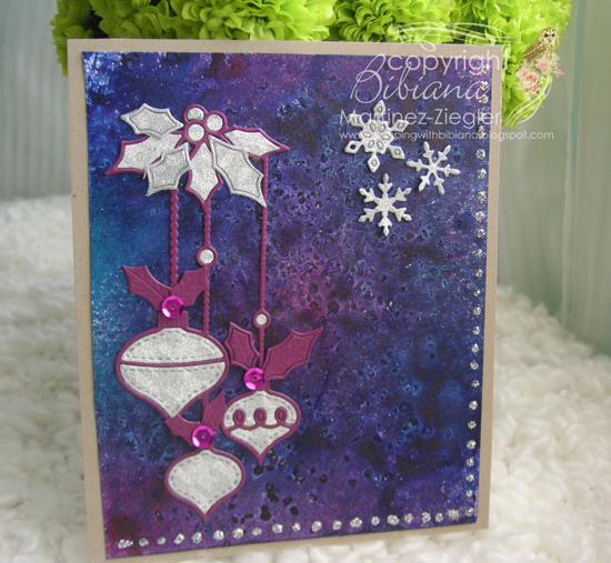 Misters glass ornament purple front