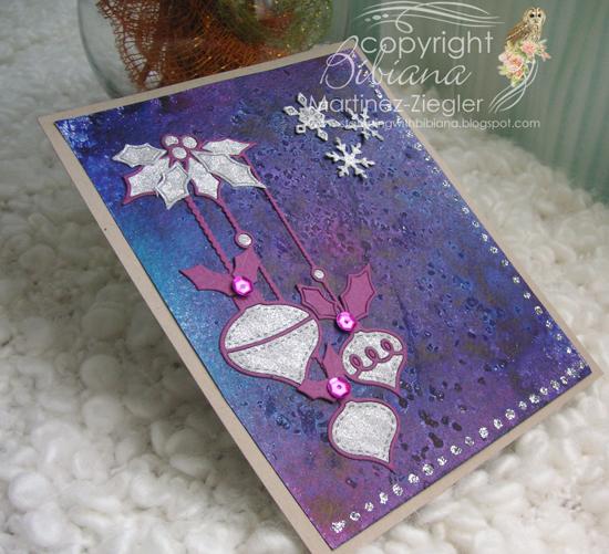 Misters glass ornament purple last