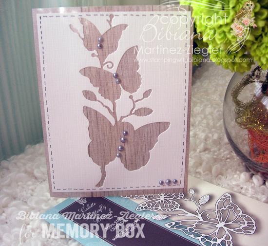 Butterflies wood negative front