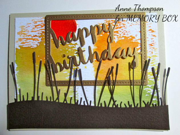 Stitched Happy Birthday Rectangle