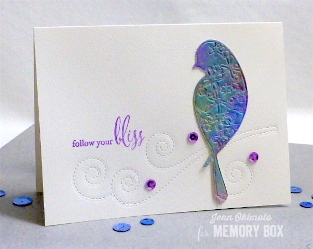 MemoryBoxAirinBird-MemoryBoxSwirlingStitches-MemoryBoxFollowYourBliss-MemoryBoxBeginnings-JeanOkimoto-ImagineCrafts-Brilliance-RadiantNeons-PeerlessWatercolors