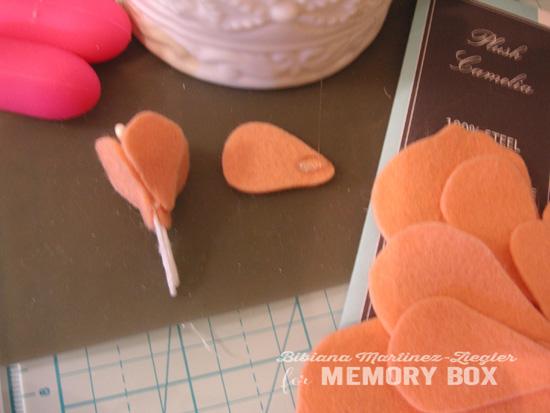 Peach flower step 1 bis