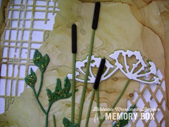 Mesh wild flowers detail