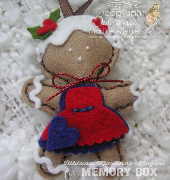 Felt gingerbread front