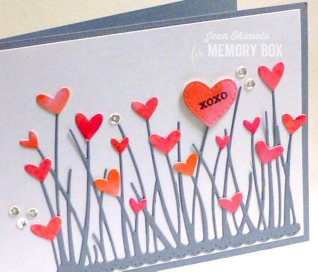 MemoryBoxTallGrassyStemsBorder-MemoryBoxClassicStitchedHeartCollection-MemoryBoxHeartWave-MemoryBoxOpenStudioStitchedCountryBorders-MemoryBoxSoManyThingsToLoveStampSet-JeanOkimoto-ImagineCrafts-ImpressCardsAndCrafts-WatercoloredValentines-WatercoloredHearts-PeerlessWatercolors