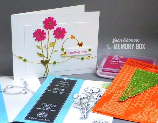 MemoryBoxAntillesFloralBouquet-MemoryBoxHeartWire-MemoryBoxSoManyThingsToLove-MemoryBoxRetangleBasics-MemorytBoxBaptisiaCollage-JeanOkimoto-DiecutValentines