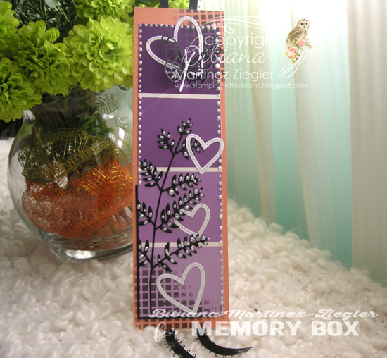 Bookmark purple front