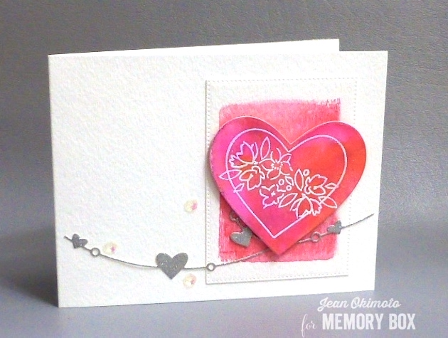 MemoryBoxSoManyThingsToLove-MemoryBoxCherubHearts-MemoryBoxHeartWire-MemoryBoxPinpointRectangleLayers-JeanOkimoto-PeerlessWatercolors-ImagineCraftsBrilliance-ImpressCardsAndCrafts-WatercoloredValentines