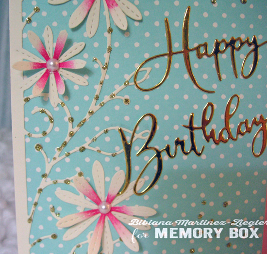 H'bday turquoise pink detail words