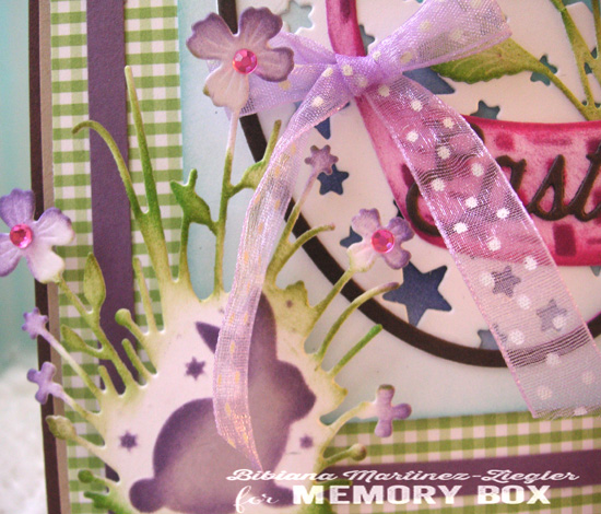 Easter basket detail rabbit