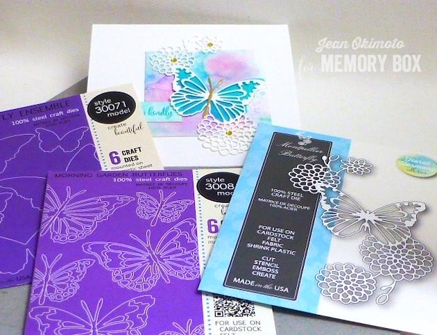 MemoryBoxMontpellierButterfly-MemoryBoxButterflyEnsemble-MemoryBoxMorningGardenButterflies-MemoryBoxRectangleBasics-MemoryBoxSquareBasics-MemoryBoxWatchingTheWorldBloomStampSet-JeanOkimoto-ButterflyCards-WatercoloredButterflyCards-DiecutButterflies-DiecutButterflyCards-ImagineCrafts-JeanOkimoto