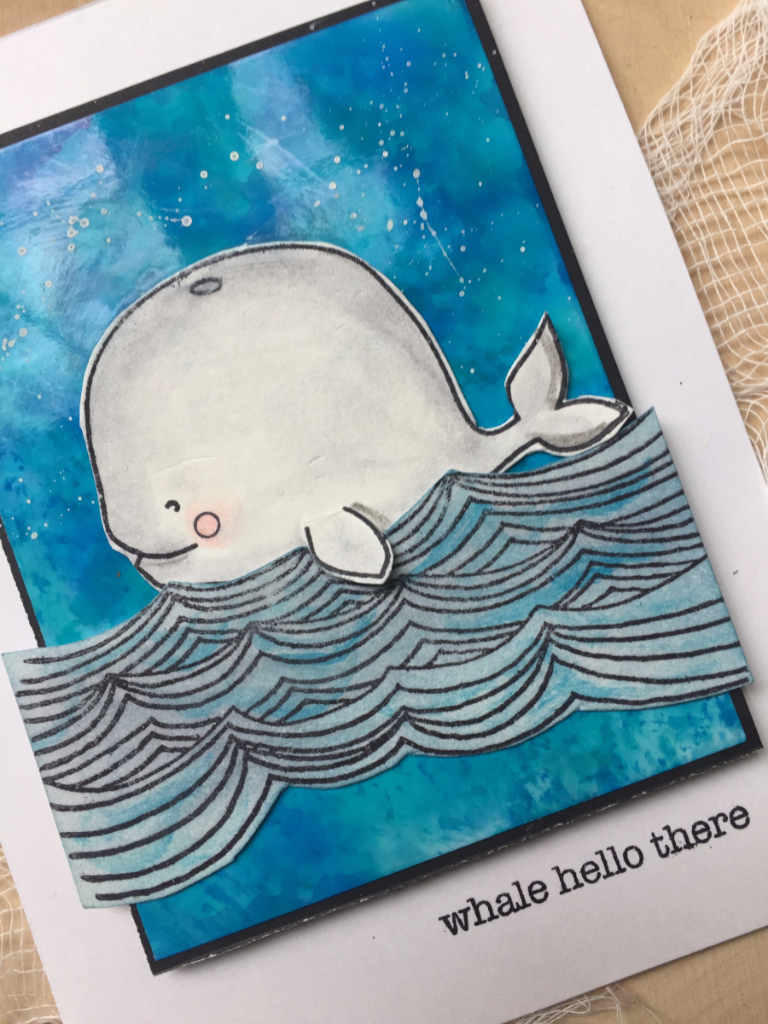 Whale Hello There clear stamp set