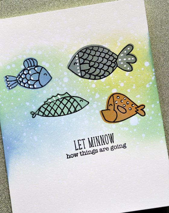 Fish Tales Shadows clear stamp set