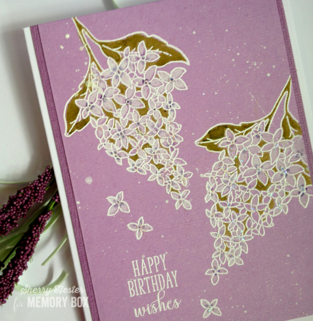 Happy Birthday Wishes with Spring Lilacs - 3